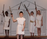 We 4th grade Romans fight with steel!